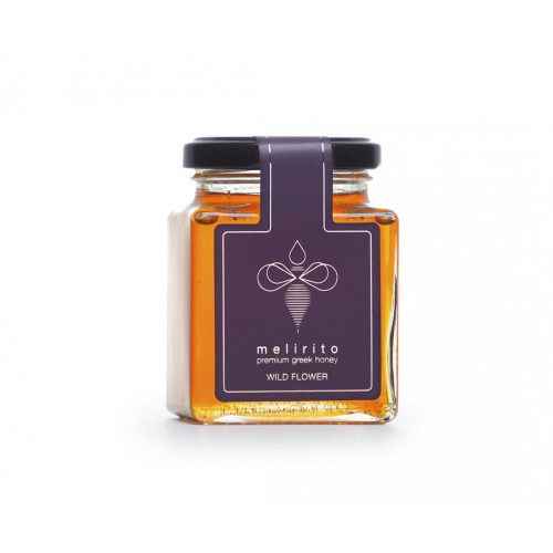Melirito Flower Honey from wildflowers of the forest of Parnassus 250gr. 100% Pure Greek Honey